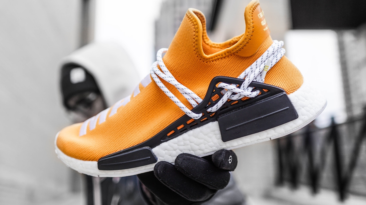 Pharrell x adidas NMD HU Noble Crimson Preview Le Site de la