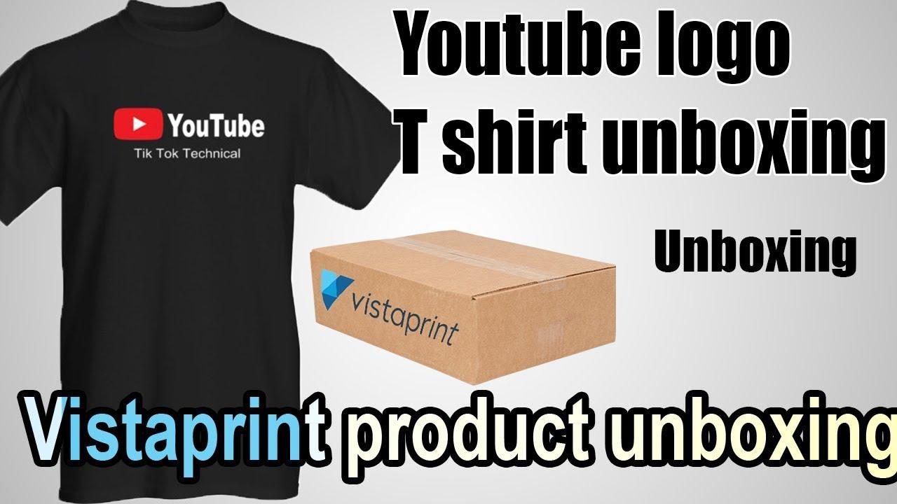 Youtube Logo T Shirt Unboxing Vistaprint T Shirt Unboxing Youtube