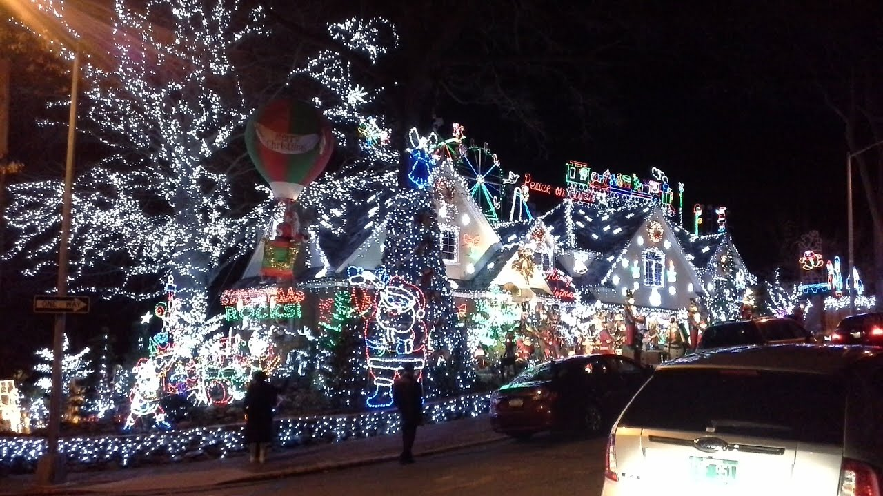 Best Christmas House Light Show 2013 [AMAZING Christmas Outdoors Decorations]  Queens NY   YouTube