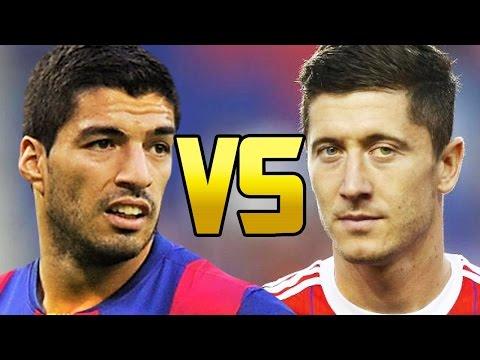 Luis Suarez vs Robert Lewandowski - Top 10 Goals -