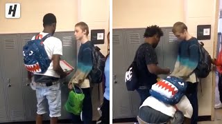 VIRAL VIDEO: Bullied student surprised with clothes and shoes!