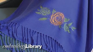 Embroidering on Pashmina
