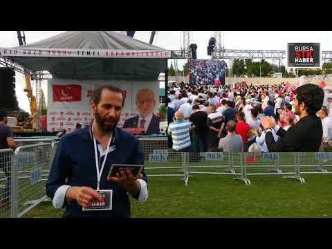 Temel Karamollaoğlu'nun Bursa Mitingi Sonrası Değerlendirme 10.Haziran 2018