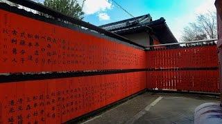 4K 京都ぶら歩き・散歩 散策 車折神社・芸能神社 KYOTO WALKING with DJI OSMO