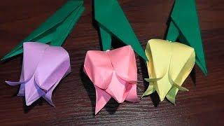 онлайн як зробити тюльпан з паперу