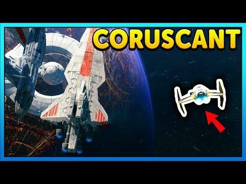 BATTLE OVER CORUSCANT MOD - Star Wars Battlefront 2 Gameplay thumbnail