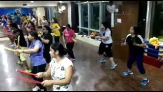 Bhubaneswar health club dancing aerobic 2016