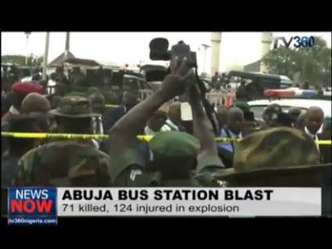 Scene of the Abuja bus station blast
