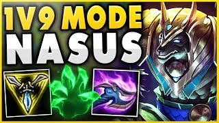 Download THIS 1V9 NASUS STRATEGY 100% NEEDS NO TEAM! SOLO CARRY NASUS! - League of Legends Mp3 and Videos