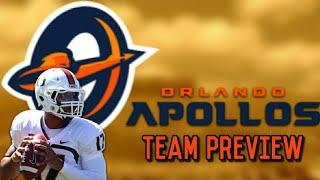 Alliance Of American Football Orlando Apollos Team Preview