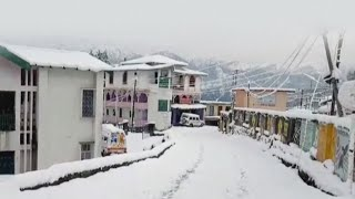 Heavy snowfall witnessed in Uttarakhand's Pithoragarh