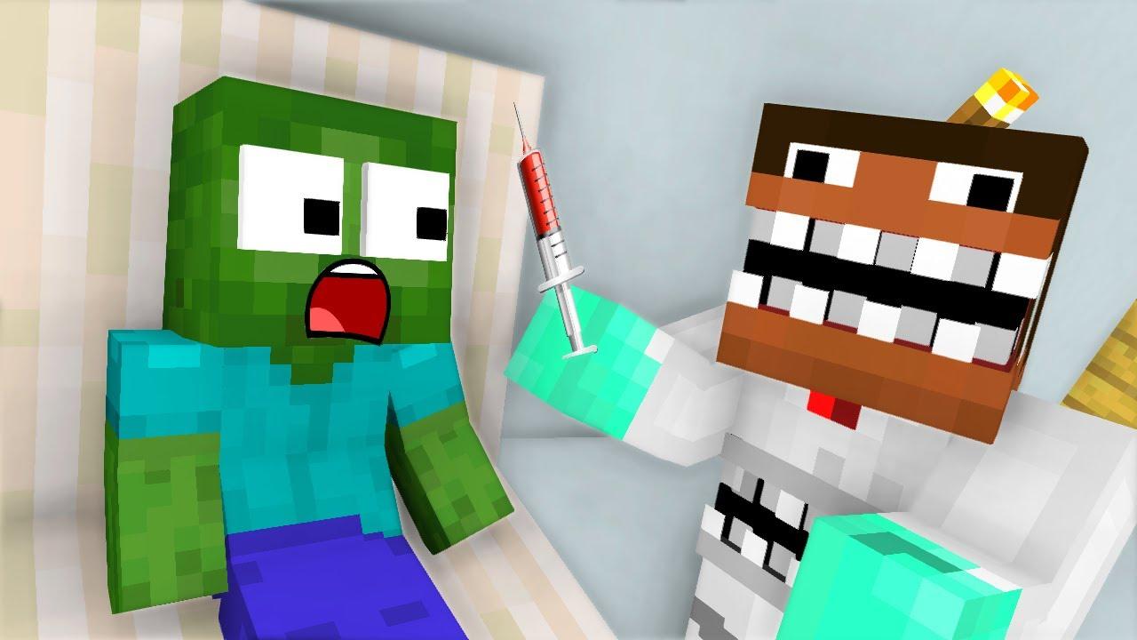 Monster School: Dentist Noob Challenge  -  Minecraft Animation Avm Shorts