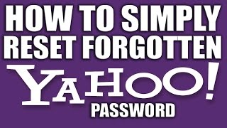 How to Reset Your Forgotten Yahoo Password 2016-2015