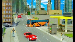 सिटी बस सिम्युलेटर 3 डी नशे की लत बस ड्राइविंग। एंड्रॉइड गेमप्ले screenshot 2