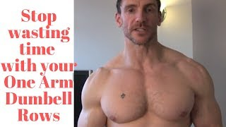 How to do a one arm Dumbbell rows