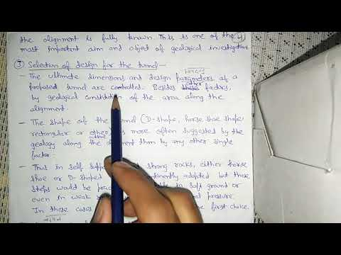 GEOLOGICAL INVESTIGATIONS OF A TUNNEL SITE (HINDI)