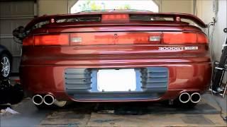 mitsubishi 3000gt old vs new exhaust