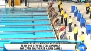 Champions: Team PHL leaving for Myanmar for 27th Southeast Asian Games - 12/3/2013