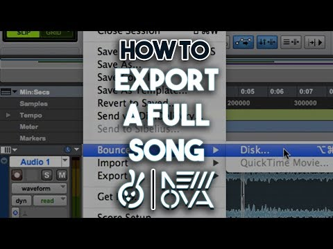 "How To  ""EXPORT AUDIO"" QUICKEST AND EASIEST WAY On Pro Tools"