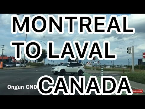 MONTREAL 4K - DRIVING HIGHWAY 15 NORD - MONTREAL TO LAVAL - TRAVEL DAILY VLOG CANADA