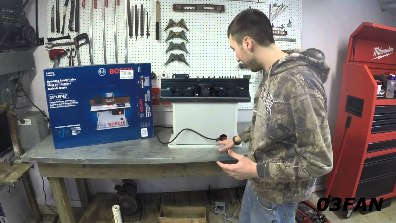Bosch RA1171 Router Table Review With Assembly Tips - YouTube