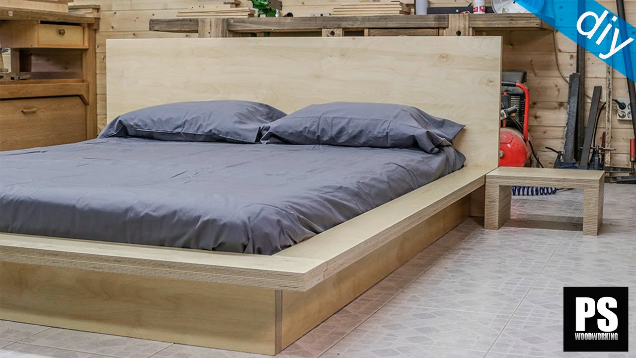How to make a plywood Tatami Bed - YouTube