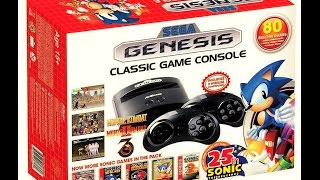 "(EPISODE 1,229) UNBOXING VIDEO: Sega Genesis Classic Game Console  2016 ""80 games"""