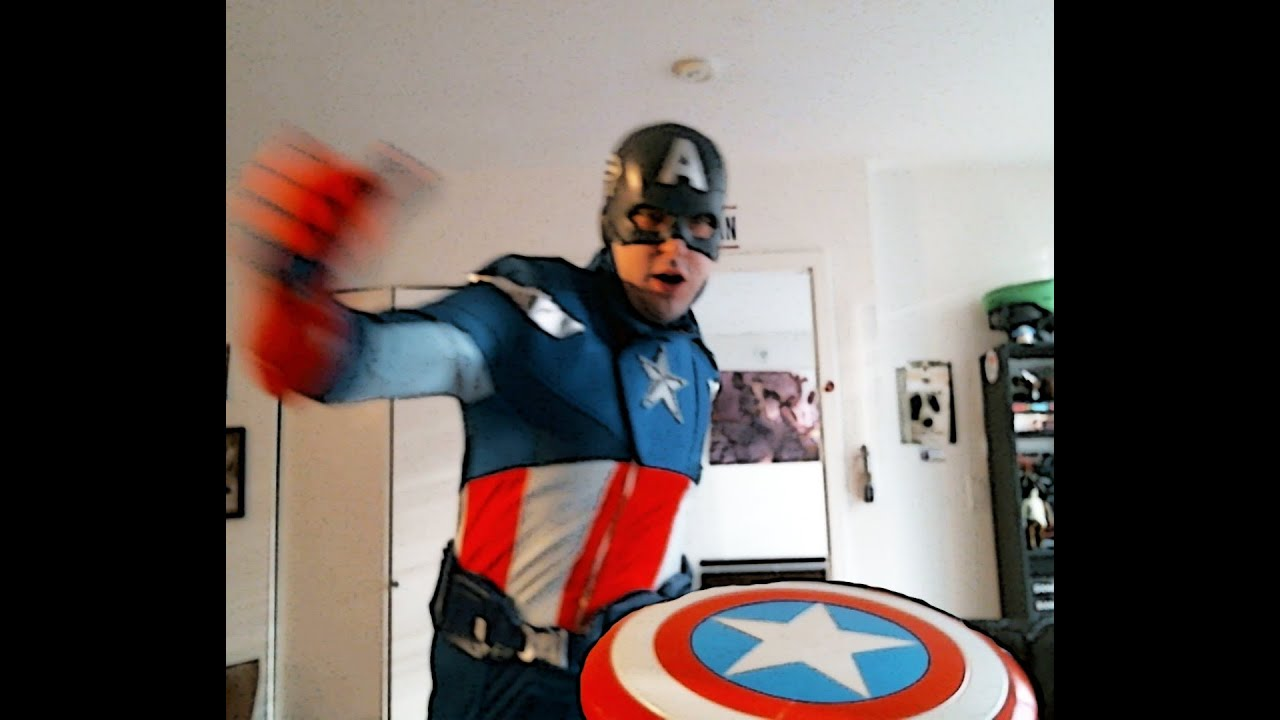 Captain America Halloween Costume For Girls