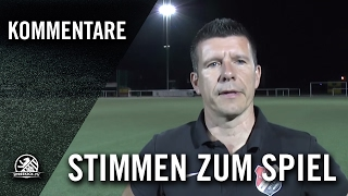 Die Stimmen zum Spiel (TSV Rudow – 1.FC Wilmersdorf, Berlin-Liga) | SPREEKICK.TV