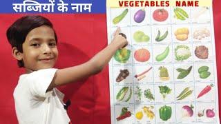 Vagetables Name Hindi and English | Vegetable Name with Spelling | सब्जियों के नाम हिंदी और अंग्रेजी