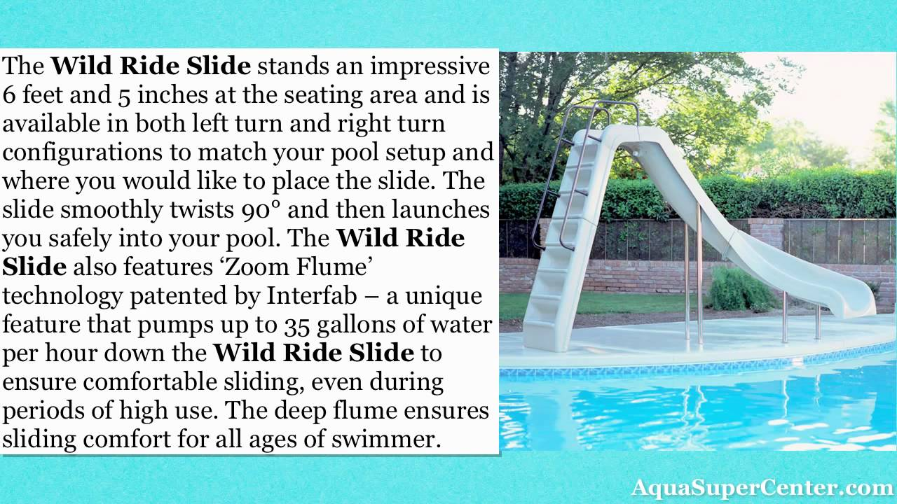 Wild Ride Pool Slide Review Youtube