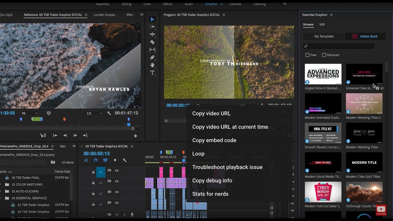 Browse Motion Graphics Templates In Premiere Pro Adobe - Premiere pro motion graphics templates