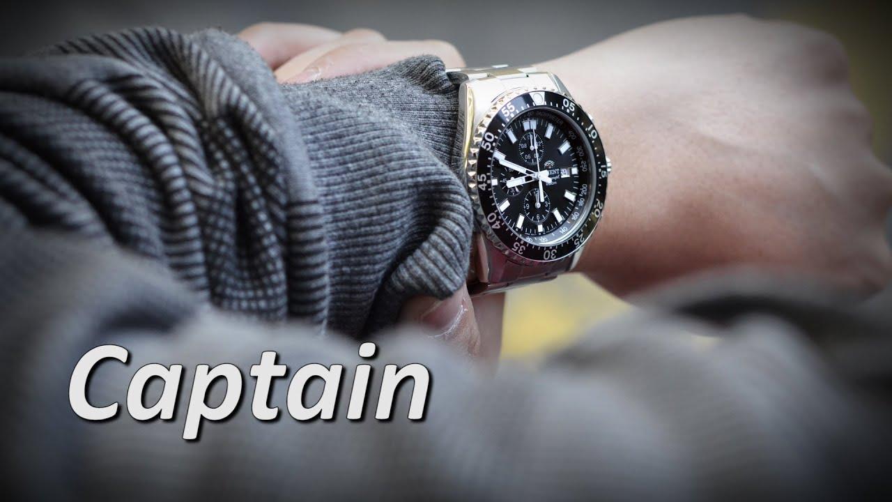 e22b86232 Orient Watch FTT11002B0 FTT11002B Captain Quartz Chronograph Sport Men's  Watches