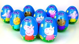Super Surprise Eggs Opening with Peppa Pig and Best Friends Surprise Toys Mashems Stamps Peppa Toys