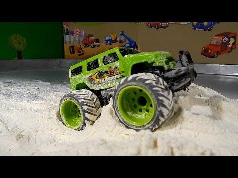 Monster Truck Stunts   Monster Truck Videos For Kids   Monster Trucks For Children