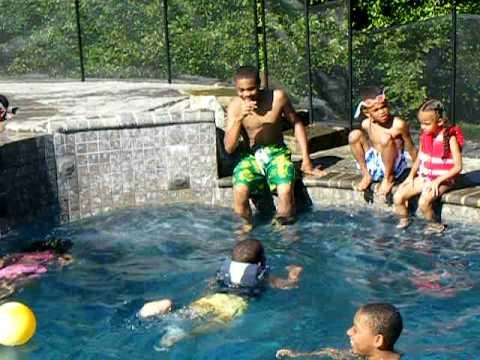 Chapman Cousins Pool Fun