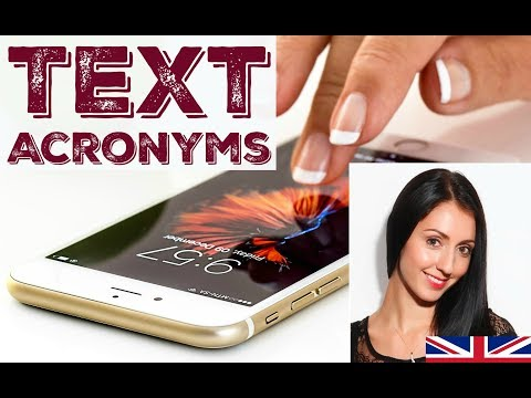 ENGLISH TEXT ACRONYMS & PHRASES / Learn English / LIVE British English Lesson with Anna English