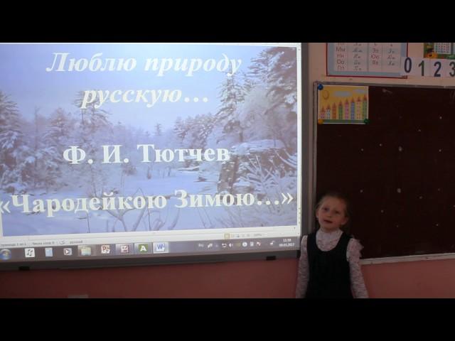 Изображение предпросмотра прочтения – ТатьянаКоролёва читает произведение «Чародейкою Зимою…» Ф.И.Тютчева