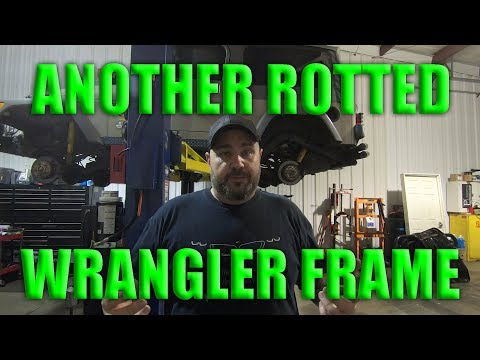 JEEP WRANGLER TJ/LJ FRAME REPAIR!!! Rotted bad!!!