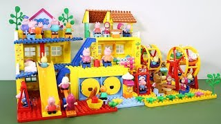 Peppa Pig Lego House With Water Slide Toys - Lego House Creations Toys For Kids #2