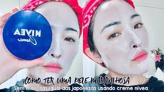 Como ter Uma Pele Perfeita Usando Creme Nivea – Pele de Japonês
