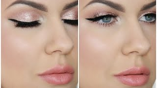 DRUGSTORE MAKEUP TUTORIAL | SHIMMERING ROSE GOLD