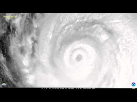 GOES-14 Super Rapid Scan visible images of the eye of Hurricane Marie