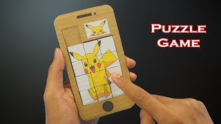 DIY How To Mąke Pokemon Puzzle Game from Cardboard at Home