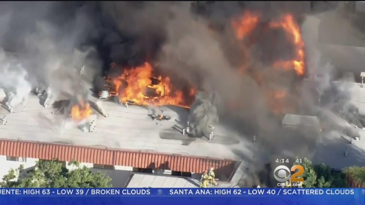 300 Left Homeless After 3-Alarm Blaze Rips Through Pico Rivera Complex