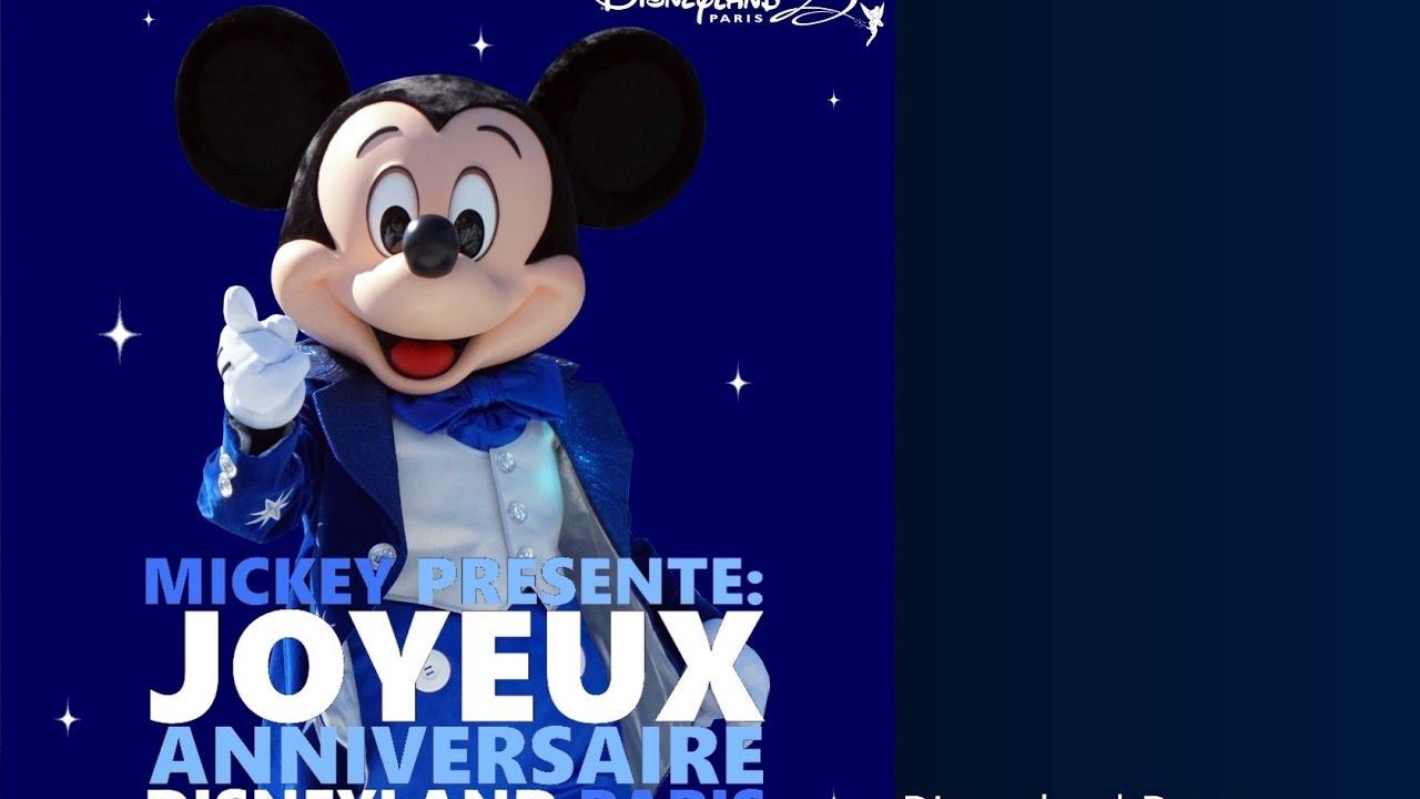 Dlp Music Mickey Presente Joyeux Anniversaire Disneyland Paris