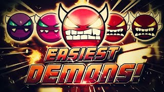 Beating the Easiest Demons of Every Difficulty - How to Get Better at Playing Demons!