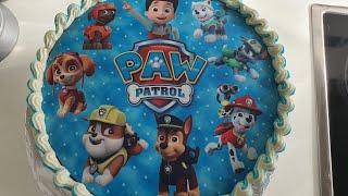 Paw Patrol Photo Cake How to Decorate