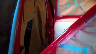 1983 Mercedes-Benz 240D - part 88: painting driver door jambs