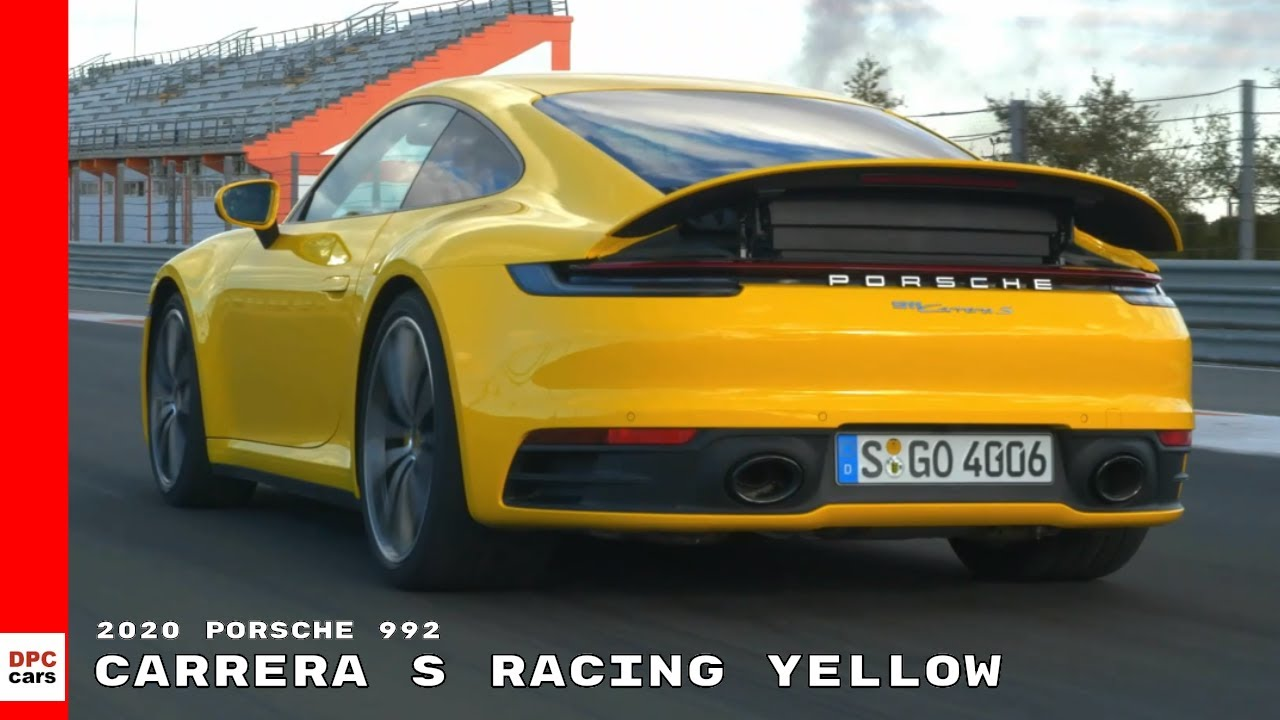 2020 Porsche 992 911 Carrera S Racing Yellow Youtube
